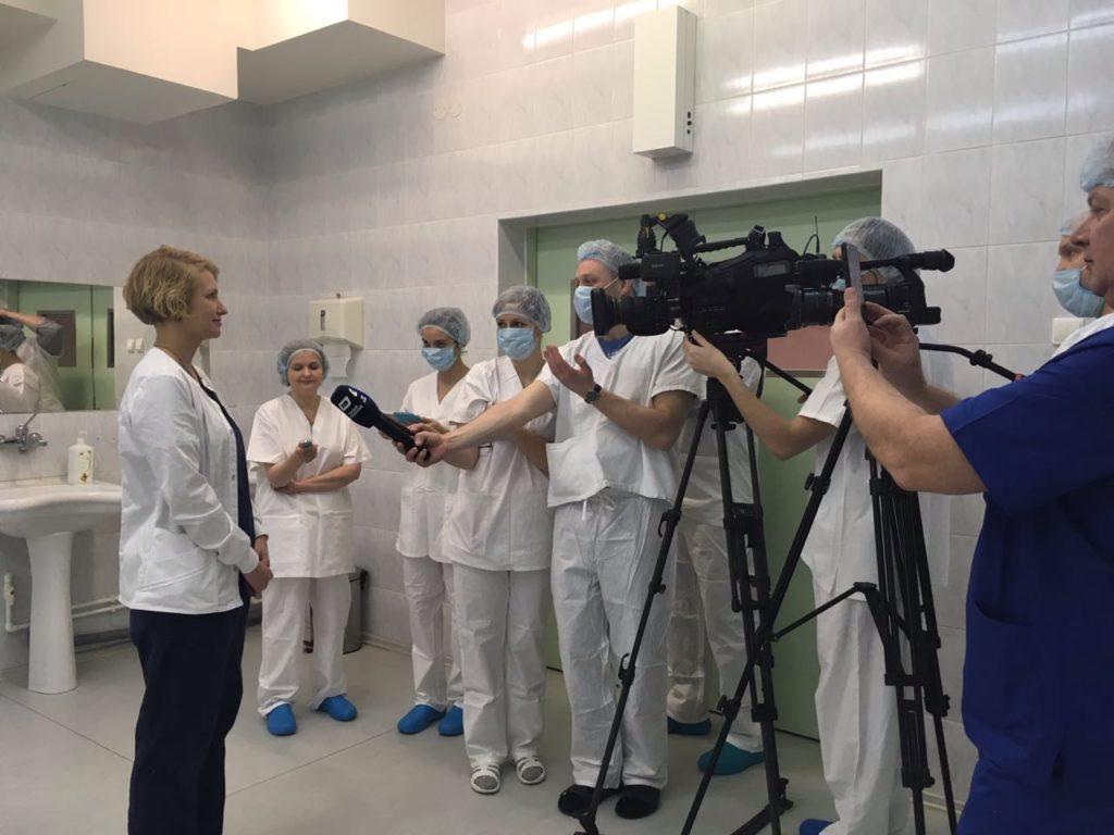 Мария Соловьёва даёт интервью перед началом операций
